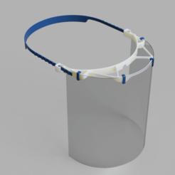 Descargar modelos 3D gratis Visiere Protection Face Escudo contra el SARS COVID19, V3DPrinting