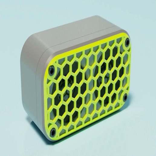 render2.jpg Download free STL file Mini Bluetooth Speaker • 3D printer design, EugenioFructuoso