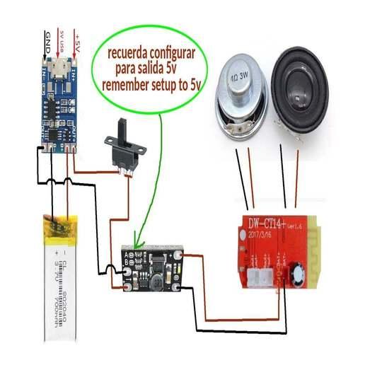 esquema_conexion.jpg Download free STL file Mini Bluetooth Speaker • 3D printer design, EugenioFructuoso