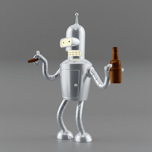 RENDER.png Télécharger fichier STL gratuit Bender Futurama • Design pour imprimante 3D, EugenioFructuoso
