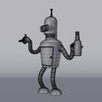 Télécharger fichier STL gratuit Bender Futurama • Design pour imprimante 3D, EugenioFructuoso