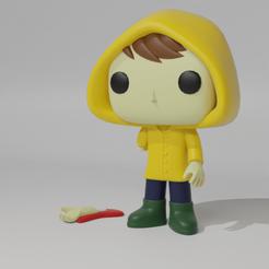Georgie.png Download STL file Georgie (IT) Pop • 3D printer template, Radiick