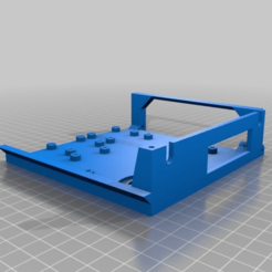 Download free 3D printer designs Pi  side with extra wire hole, hitchabout