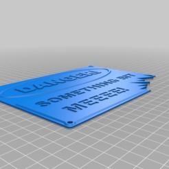 Télécharger plan imprimante 3D gatuit QUI A FAIT UNE PETITE SIGNALISATION, hitchabout