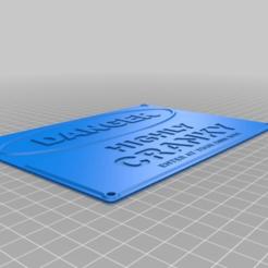 Télécharger fichier STL gratuit Signe CRANKY • Objet imprimable en 3D, hitchabout