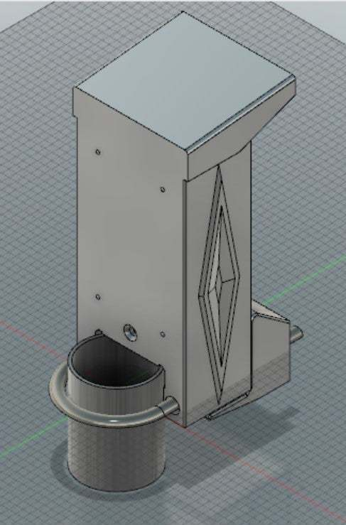 "Annotation_2020-07-04_170742.jpg Download free STL file Ring Doorbell (1) 2nd Gen 2"" 50mm Pole Topper • Model to 3D print, hitchabout"