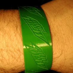 Download free 3D printing templates dew bracelet, hitchabout