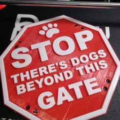 Download free STL file stop dogs sign • 3D print model, hitchabout