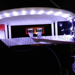 Download free 3D print files LED dual light strip hood Anet A6, hitchabout