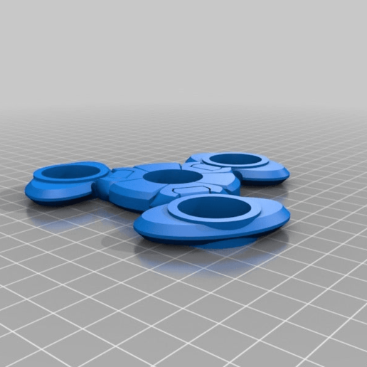 124f12b92eac01b56302cf7ba0a84eb1.png Download free STL file Floppy fidget spinner (HINGED) • 3D printer object, hitchabout