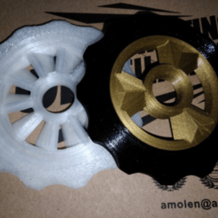 Download free 3D printing models sprocket spinner, hitchabout