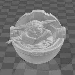ssss.JPG Download STL file Baby yoda (mandalorian) stl • 3D print design, powellcolla