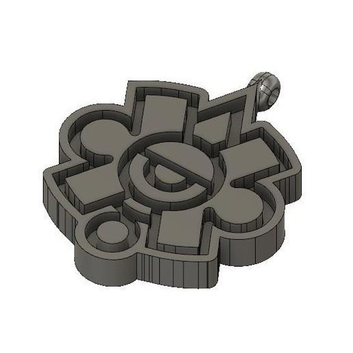Download free 3D print files Mayan symbol necklace, Amane