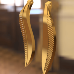 AretesDeHojas.png Download free STL file Leaf Earrings • 3D print object, Amane