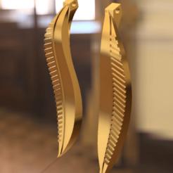 Download free STL files Leaf Earrings, Amane