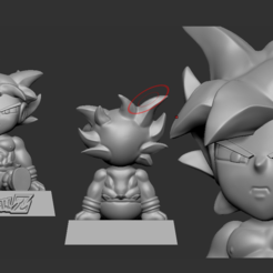 Download 3D printing templates Goku Cell Phone Holder, oraculo3d