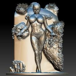 1.jpg Download STL file Goddess of ocean • 3D printable design, homeprinter