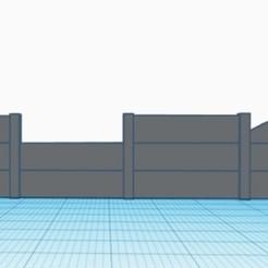 Concrete fencing.jpg Download STL file Concrete Panel Fence • 3D print model, trombo_16