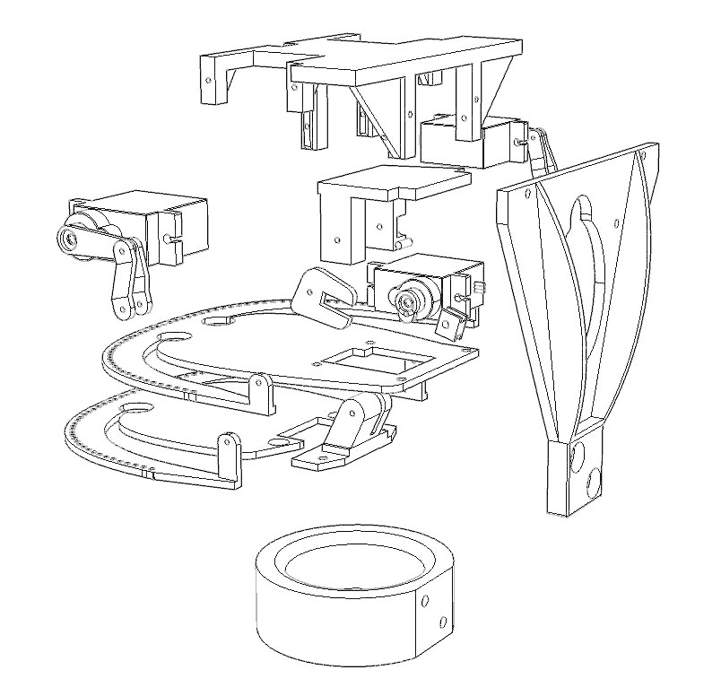 ScreenShot_420_Rhino_Viewport.png Télécharger fichier STL gratuit Mécanique de la bouche et du sourcil, adaptable à la mécanique de l'œil • Modèle pour impression 3D, kakiemon