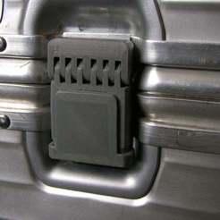 P1010123.JPG Download free STL file Rimowa lock replacement • 3D print model, kakiemon