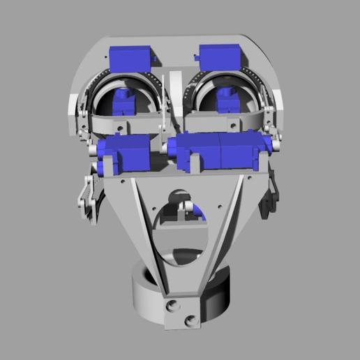 ScreenShot_355_Rhino_Viewport.png Télécharger fichier STL gratuit Mécanique de la bouche et du sourcil, adaptable à la mécanique de l'œil • Modèle pour impression 3D, kakiemon