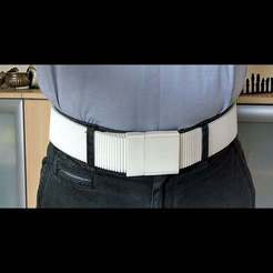 Download free 3D printer templates Stretch belt, wearable belt, waist belt, kakiemon