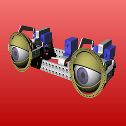 proj.png Download free STL file animatronic eye mechanics with adjustable eye distance • 3D printing template, kakiemon
