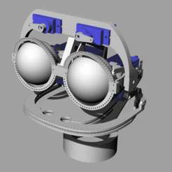 ScreenShot_353_Rhino_Viewport.png Download free STL file Mouth and eye brow mechanics, adaptable to eye mechanics • 3D printer template, kakiemon