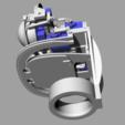 ScreenShot_352_Rhino_Viewport.png Télécharger fichier STL gratuit Mécanique de la bouche et du sourcil, adaptable à la mécanique de l'œil • Modèle pour impression 3D, kakiemon
