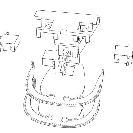 ScreenShot_419_Rhino_Viewport.png Télécharger fichier STL gratuit Mécanique de la bouche et du sourcil, adaptable à la mécanique de l'œil • Modèle pour impression 3D, kakiemon