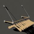 with_hangers.png Télécharger fichier STL gratuit majordome escamotable pour fixation murale • Objet pour impression 3D, kakiemon