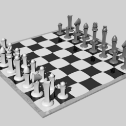 chess2.png Download free STL file Astroid modern Chess • 3D printing object, kakiemon