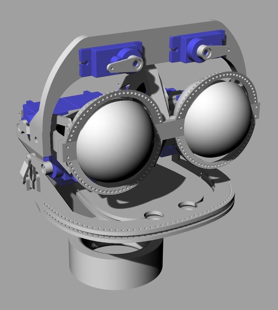 ScreenShot_349_Rhino_Viewport.png Télécharger fichier STL gratuit Mécanique de la bouche et du sourcil, adaptable à la mécanique de l'œil • Modèle pour impression 3D, kakiemon