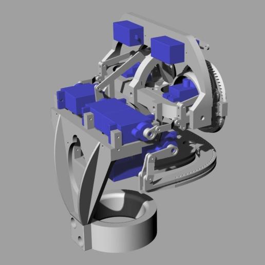 ScreenShot_350_Rhino_Viewport.png Télécharger fichier STL gratuit Mécanique de la bouche et du sourcil, adaptable à la mécanique de l'œil • Modèle pour impression 3D, kakiemon
