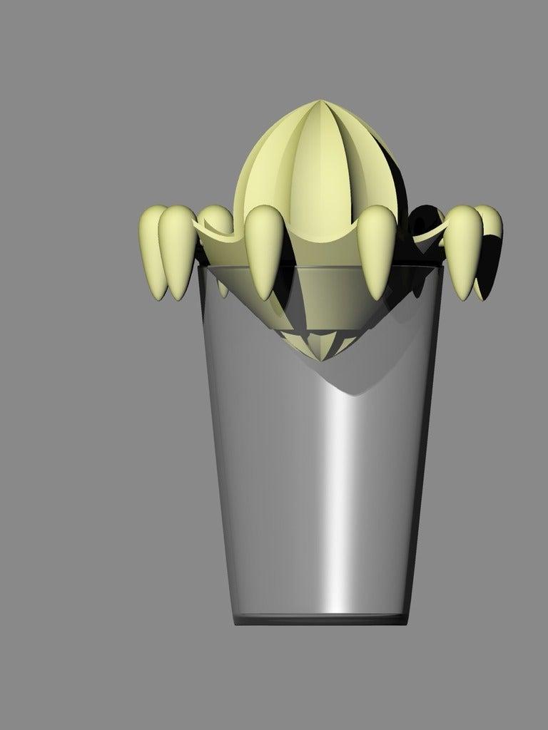 zitruspresse4_front.png Download free STL file citrus juicer press - lemon juicer press - orange juicer • Object to 3D print, kakiemon