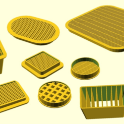 Ventilation_grids.png Download free SCAD file Customizable ventilation grid • Design to 3D print, kakiemon