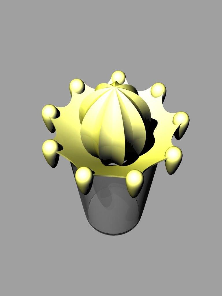 zitruspresse4_mit_glas2.png Download free STL file citrus juicer press - lemon juicer press - orange juicer • Object to 3D print, kakiemon