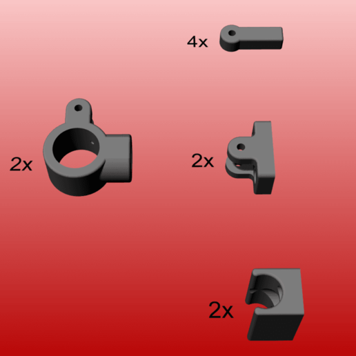 parts.png Télécharger fichier STL gratuit majordome escamotable pour fixation murale • Objet pour impression 3D, kakiemon