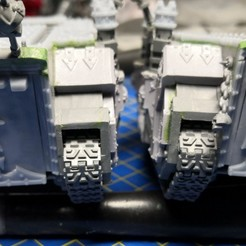 Download 3D printer designs Chaos space marines Rhino top hatch trims / decorations (Type A - Khorne), apaintingchaos