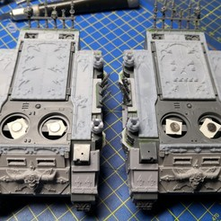 Download 3D printing designs CHAOS SPACE MARINES Rhino top trims / decorations (Type B - World Eaters), apaintingchaos