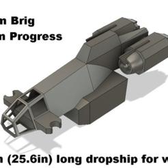 Graham_Brig_Preview.PNG Download free STL file Graham's Brig 28mm • 3D printing model, the23flavors