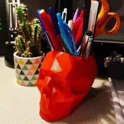 1605640154578.jpg Download STL file Pencil pot skull • 3D printer model, WoOx46