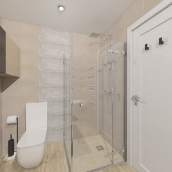 Download free STL files  Simple shower room, 3daudrius