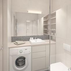 Télécharger objet 3D Une salle de bain simple avec des carreaux légers, 3daudrius