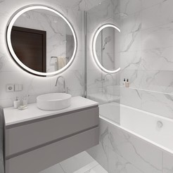 Télécharger fichier 3D Petite salle de bain confortable avec carreaux de marbre, 3daudrius