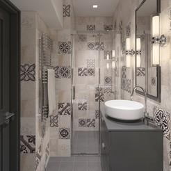 Télécharger fichier STL Une douche confortable avec des carreaux décoratifs, 3daudrius