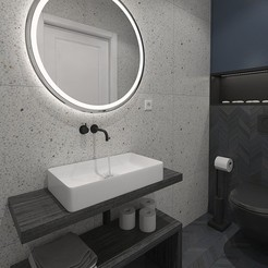Download free 3D printing files Small shower room with stone tiles, 3daudrius