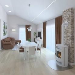 Download 3D model Amazing spacious living room, 3daudrius