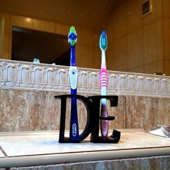 20210103_111224.jpg Download STL file Toothbrush holder • Model to 3D print, ombre-gringo