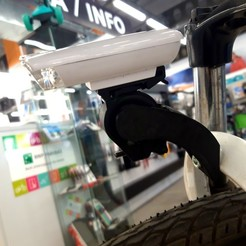 Download STL file Bicycle light holder, ombre-gringo